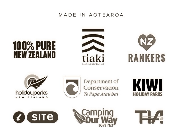 Rankers' Partners: Tiaki, 100% Pure New Zealand, iSite, Camping Our Way, Holiday Parks Association, Department of Conservation, Tourism Industry Association, Top 10 Holiday Parks
